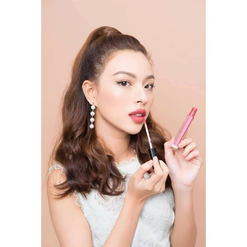 Son TY Cosmetics Matte Lip Cream #106 ĐỎ CHERRY (CRIMINAL)+ son dưỡng, túi sách, catalog
