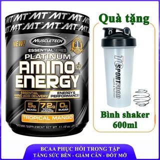 BCAA Platinum Amino Plus Energy của Muscle Tech hương XOÀI hộp 30 lần dùng tăng sức bền, sức mạnh, đốt mỡ, giảm cân thumbnail
