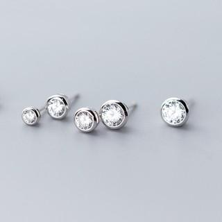 Khuyên Tai Nữ Tròn Đính Đá Chất Liệu Bạc 925 - B2542 - Bảo Ngọc Jewelry