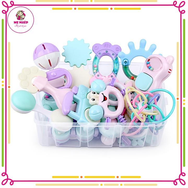 Free Ship 🎁🎁🎁 Set đồ chơi xúc xắc có gặm nướu cho trẻ sơ sinh từ 0 - 12 tháng t