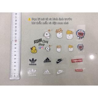 Sticker Cute mini Ủi Lên Áo cho Doll