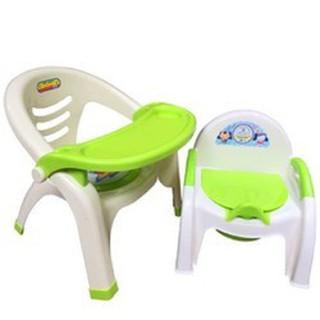 combo ghế ăn dặm và ghế bô cho bé