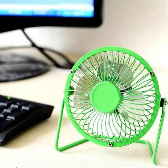 Quạt USB Mini Fan Lồng Sắt 4 inches Giao mầu ngẫu nhiên