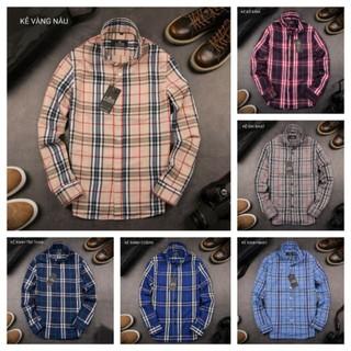 Áo sơ mi nam hàng hiệu Buberry vải kẻ nhiều màu lựa chọn, áo sơ mi nam công sở [Freeship], chất liệu cotton mát.