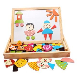 Bảng ghép hình khối mẫu giáo cho bé – Đồ chơi gỗ giúp phát triển trí tuệ