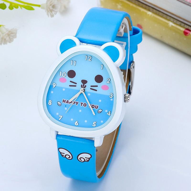 Kids Girl Cute Cartoon Cats Analog Watch Fashion Creative Outdoor Sport Wristwatch