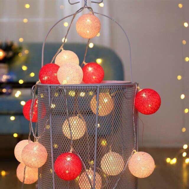Đèn led trang trí tiệc, nhà cửa, phòng ngủ hình quả bóng to nhiều màu