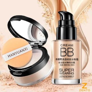 Combo trang điểm makeup kem nền che khuyết điểm và phấn phủ kiềm dầu lameila ZT-141 thumbnail