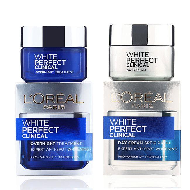 (cty) Kem dưỡng da trắng mịn và giảm thâm nám L'oreal White Perfect Clinical Ngày và Đêm