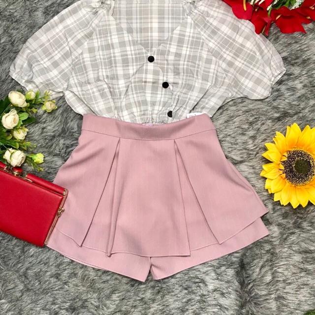 quần váy tầng xếp ly (ảnh chụp thật)