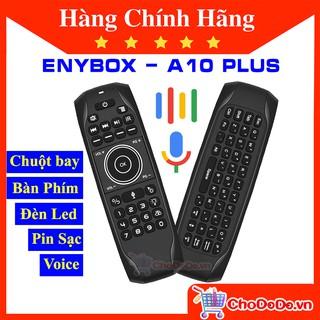 Chuột Bay Bàn Phím Tìm Kiếm Giọng Nói A10 Plus tích hợp Pin Sạc có Đèn Led sáng ban đêm hàng chính hãng ENYBOX