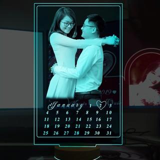 [Video] Đèn led 3D kỷ niệm ngày cưới, ngày yêu, quà mừng sinh nhật thiết kế theo yêu cầu