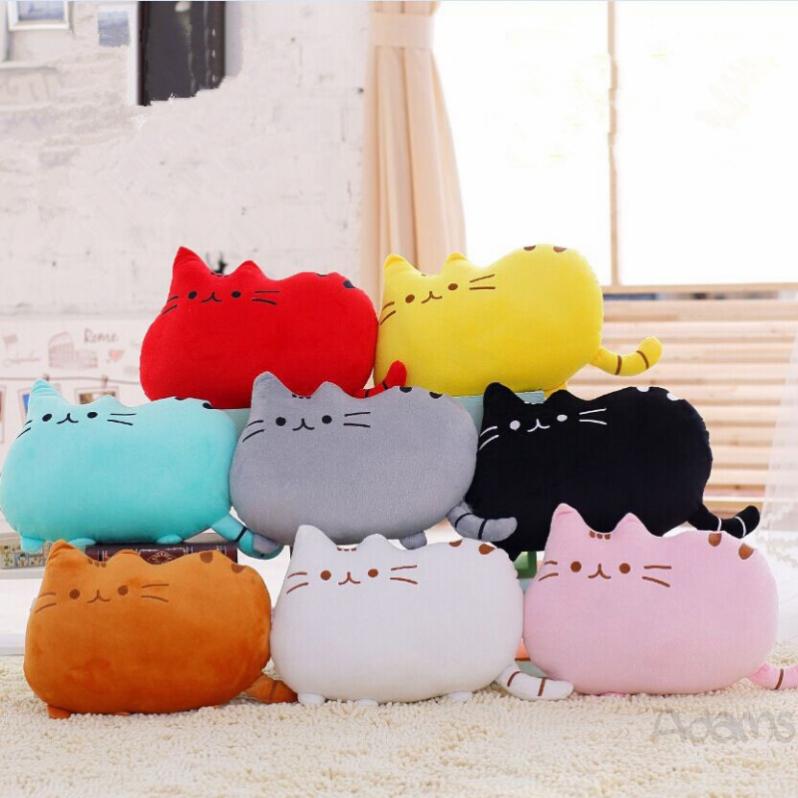 adams ALU40CM Cute Cartoon Cat Plush Pillow Stuffed Toys