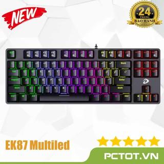 Bàn phím cơ Gaming DAREU DK87 EK87-Black (RED Led, Brown,Blue, Red switch) thumbnail