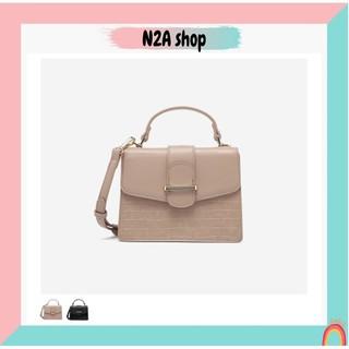 Túi xách nữ [có sẵn + FREESHIP] Túi đeo chéo Micocah dáng hộp phối da sần - 248 N2a shop