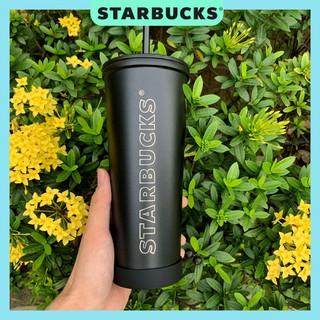 Ly cốc giữ nhiệt STARBUCKS Chính hãng màu đen nhám dung tích 590ml-size Venti