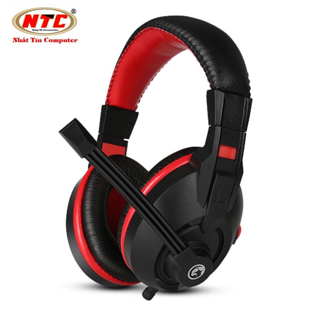 Tai nghe chụp tai cao cấp có dây Marvo H8321 (Đen đỏ)
