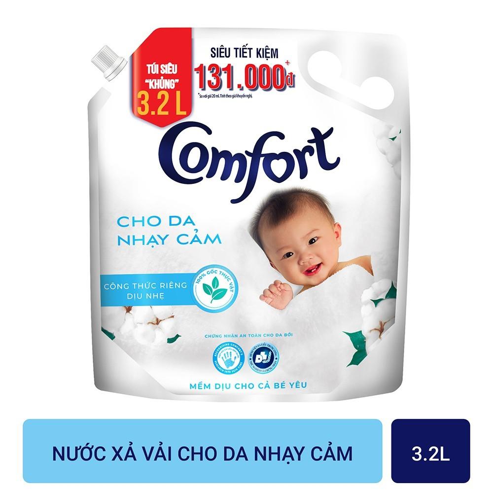 Nước xả vải Comfort Cho Da Nhạy Cảm Túi 3.2L/3.8L