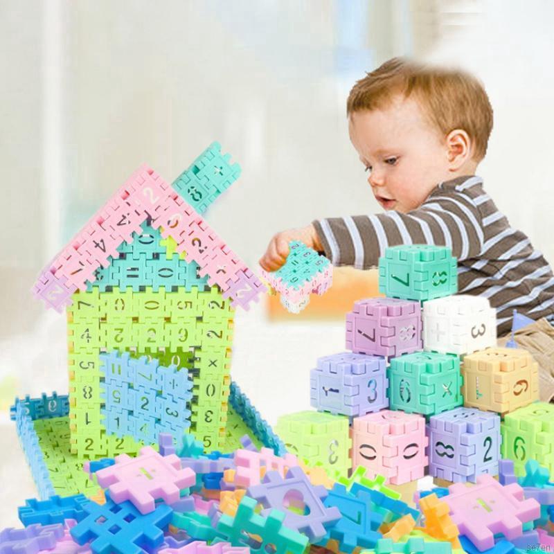 Se7en 50 Pcs 2 in 1 Educational Learning Construction Toys Square Digital Building Blocks