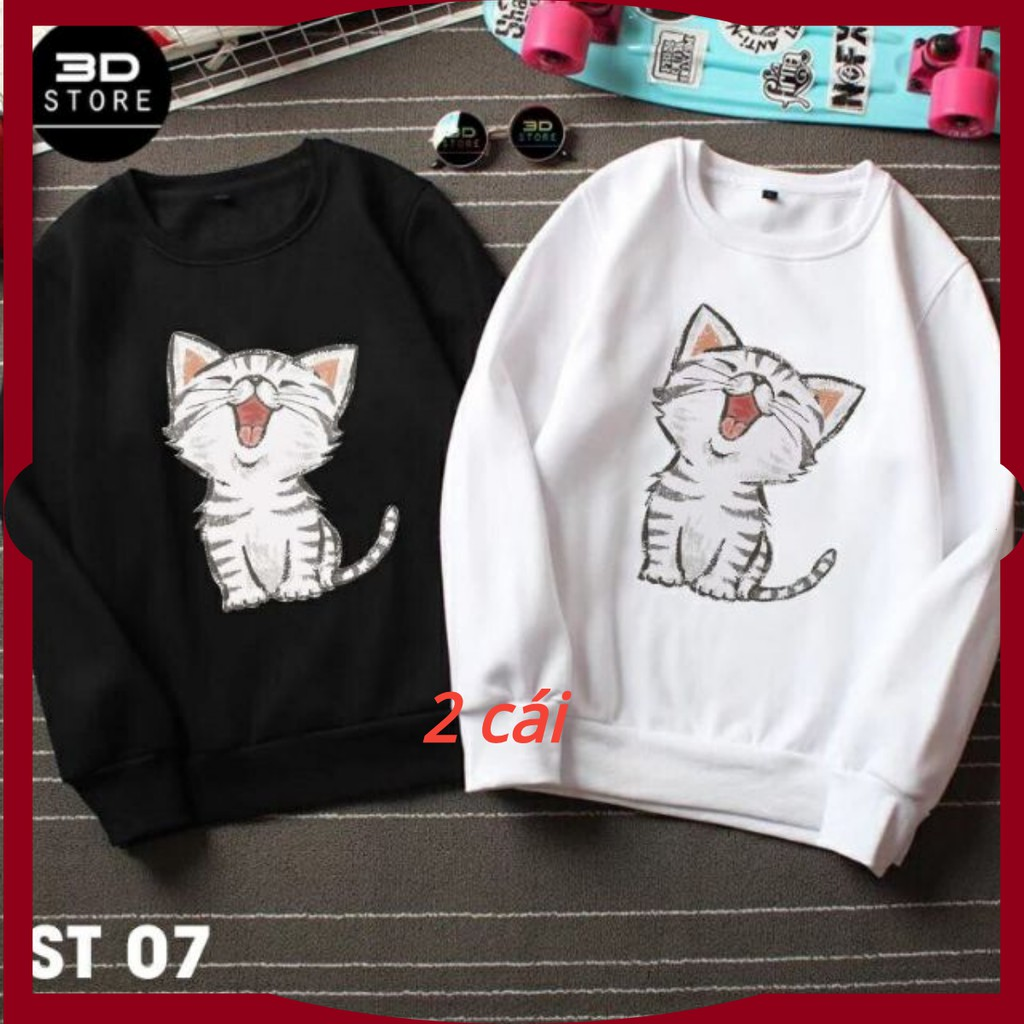 áo đôi thu đông mèo