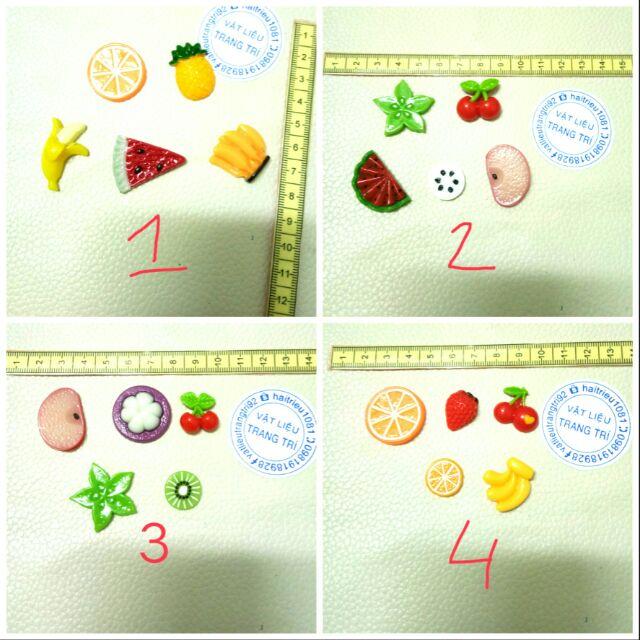 Combo 5 charm trái cây charm slime