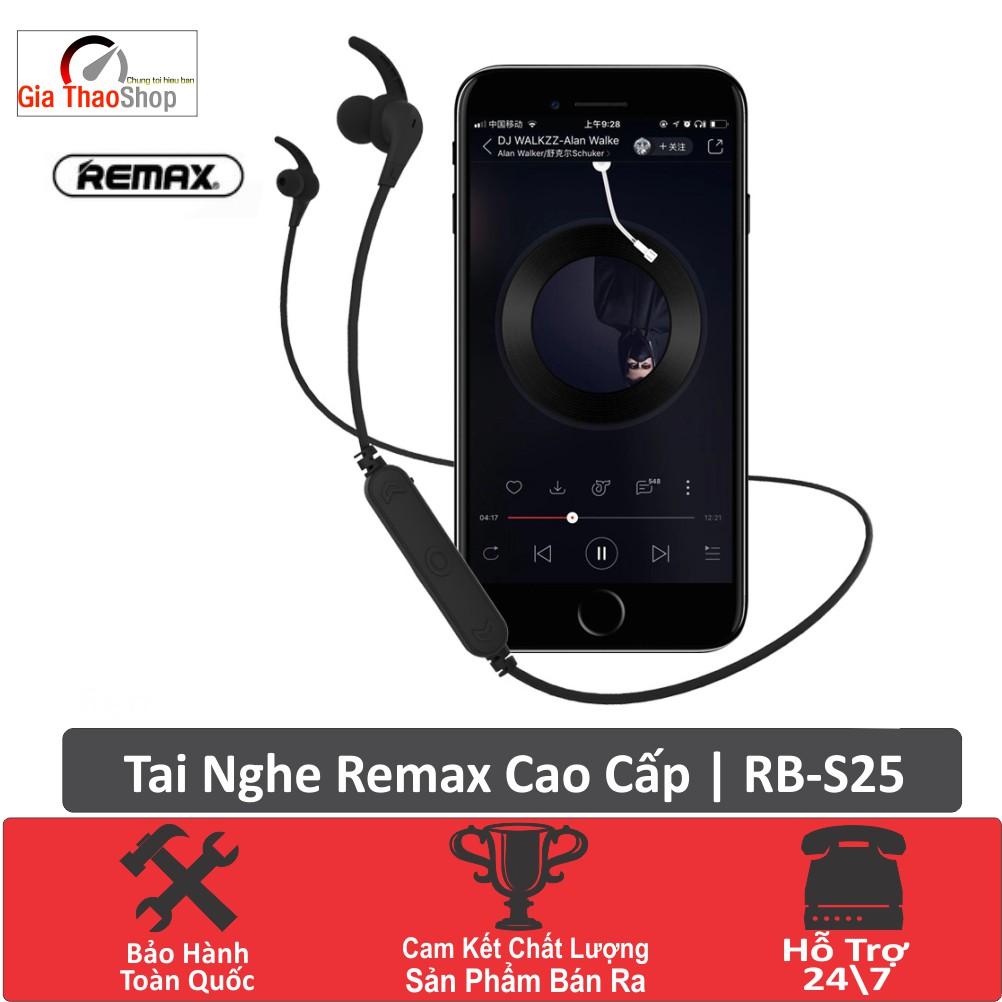 Tai Nghe Không Dây Bluetooth Remax RB S25- Bluetooth v4.2- Dây Đeo Chống Rối Chống Đứt- Bảo Hành Toàn Quốc