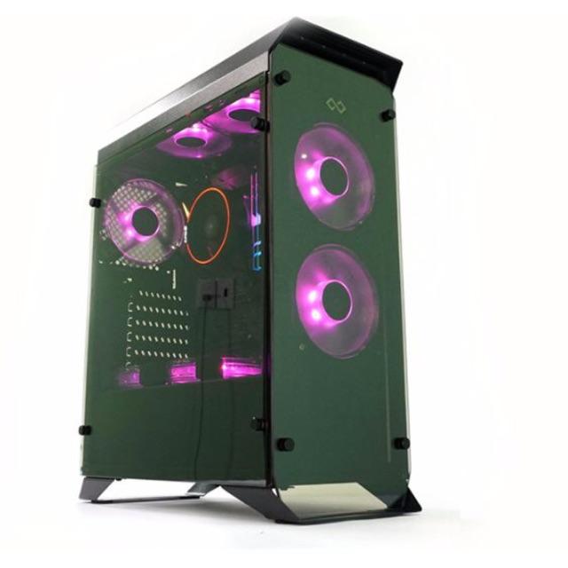 Case Infinity Hyperion Gaming 2 mặt kính cường lực (tặng 1 fan led đỏ)