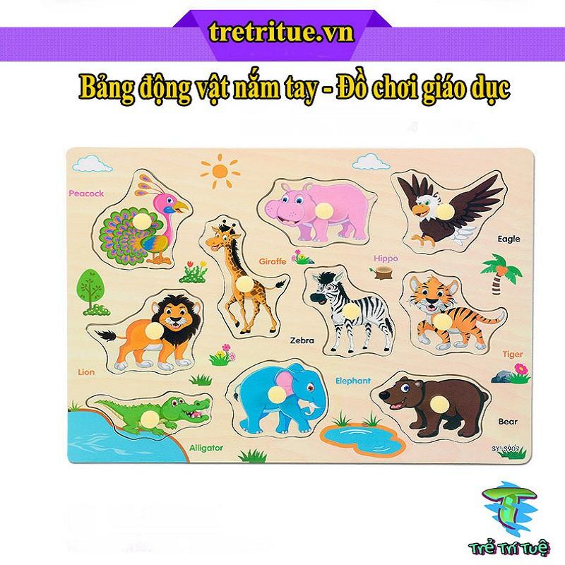 💣 GIÁ HUỶ DIỆT 💣 Bảng động vật nắm tay – Đồ chơi giáo dục cho bé 1 2 3 4 tuổi – Đồ chơi khoa học thông minh