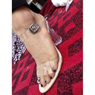 Sandal quai gót trong 7cm( hàng Việt Nam vnxk)