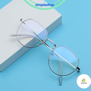 ❀SIMPLE❀ Fashion Anti-Blue Light Eyeglasses Computer Ultra Light Frame Metal Glasses Portable Women Men Polygon Vintage Eye Protection/Multicolor