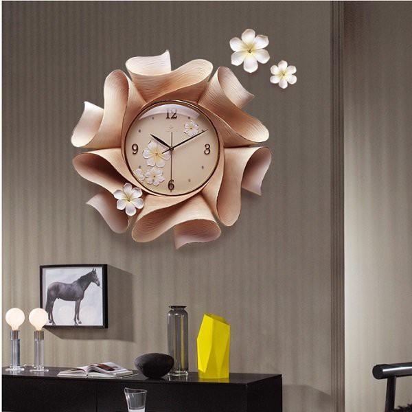 Đồng hồ treo tường nghệ thuật Bông hoa BH