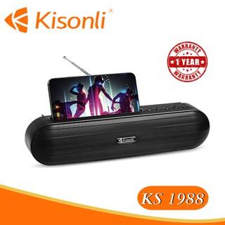 [HÀNG MỚI VỀ] Loa Kisonli Bluetooth KS-1988 - Có khe để điện thoại, siêu tiện lợi