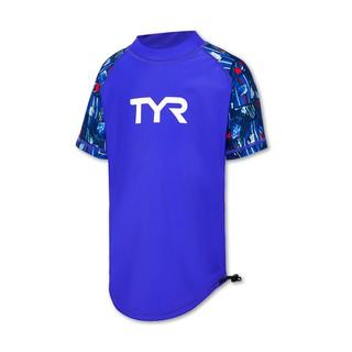 Áo bơi tay ngắn chống nắng trẻ em TYR TK Junior Short Sleeve Rashguard