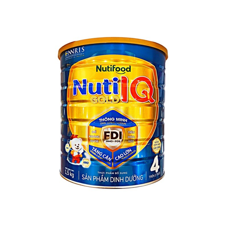 Sữa Bột Nuti IQ Gold 4 1.5kg ( Mẫu Mới )