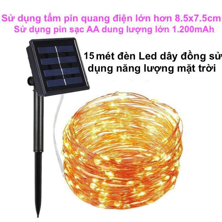 Dây Đèn Led Trang Trí sử dụng năng lượng mặt trời / đèn led dây đồng chớp nháy chống thấm nước trang trí ngoài trời