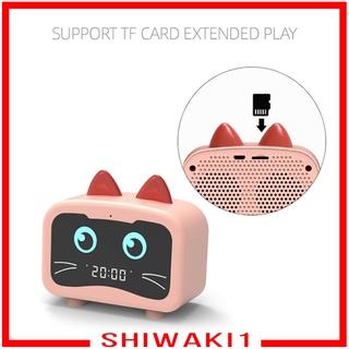 Loa Bluetooth Không Dây Kiêm Đồng Hồ Báo Thức Đa Năng Shiwaki1