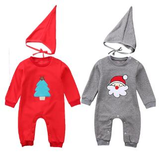 ✦LD-Kids Baby Boys Girls Christmas Romper Bodysuit Jumpsuit Playsuit Outfits Clothes