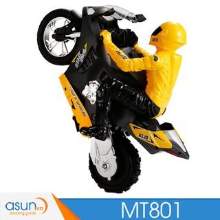 Xe Mô Tô Điều Khiển Từ Xa MT801 Bốc Đầu Gyro tự cân bằng 1:6