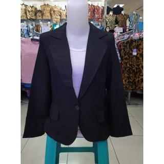 Áo Khoác Blazer Màu Đen Thời Trang Công Sở Thanh Lịch Cho Nữ