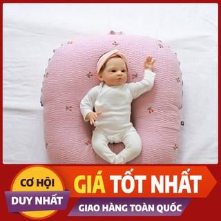 Gối chống trào ngược cho bé + tặng gối chống móp đầu cho bé