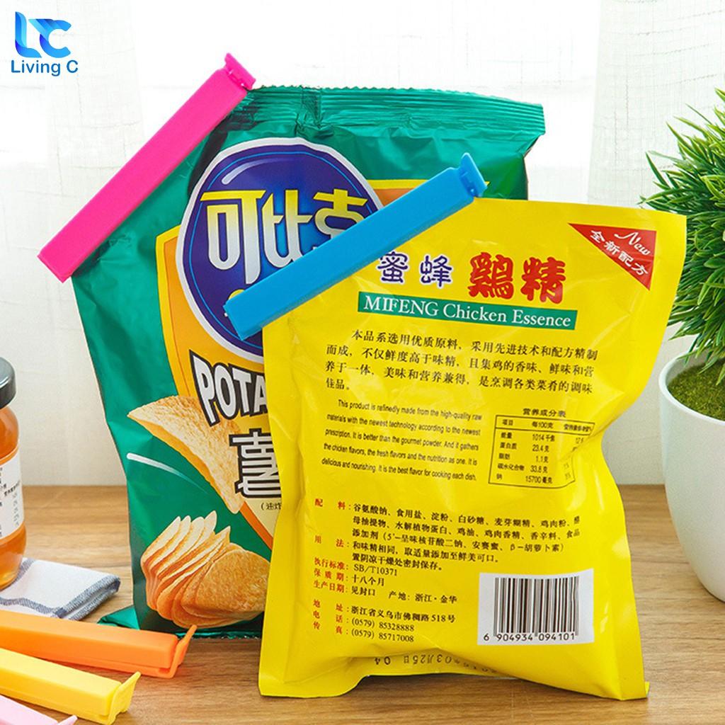 Combo 5 kẹp miệng túi Living C _B19 , Bộ 5 kẹp miệng bao miệng túi bằng nhựa