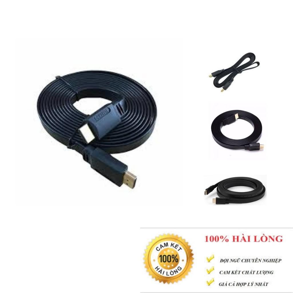 Dây cáp tín hiệu HDMI 1.5m, 3m, 5m dẹt chuẩn 1.4v lõi đồng. bảo hành 3 tháng.shopphukienvtq