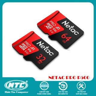 Thẻ nhớ microSDXC Netac Pro 32GB / 64GB U3 4K V30 98MB/s - chuyên camera, máy quay và điện thoại (Đỏ)
