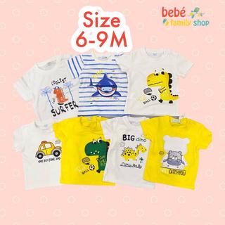 [Size 6-9M] Áo thun tay ngắn/ cộc tay cotton đẹp cho bé trai – hàng xuất dư nhiều hãng