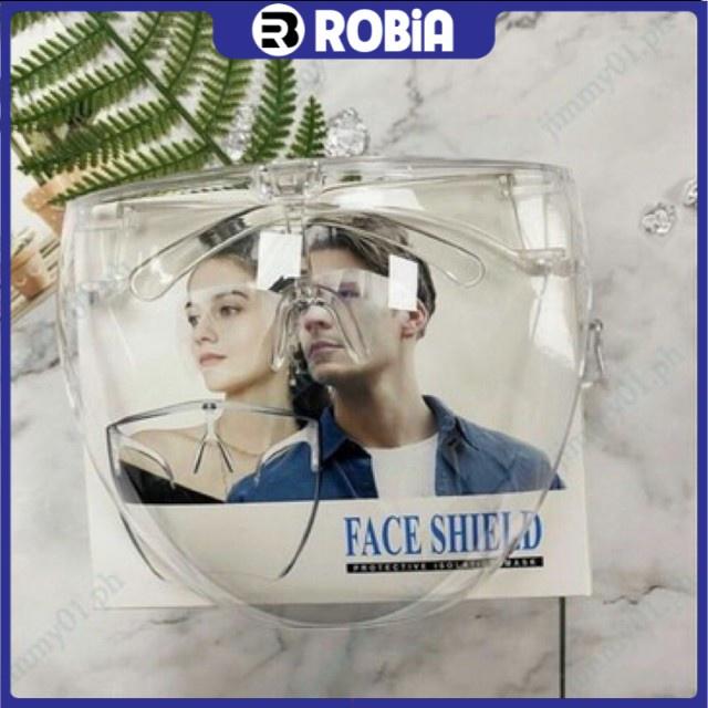 Mắt kính bảo hộ FACE SHIELD là mẫu kính với thiết kế ôm hết khuôn mặt Robia- RB286