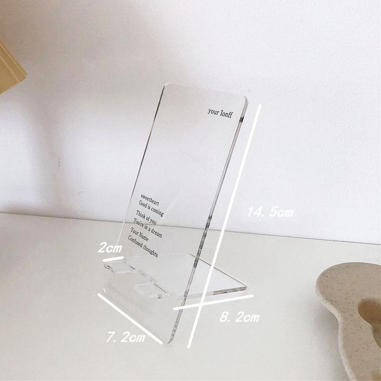 Giá Đỡ Máy Tính Bảng Bằng Nhựa Acrylic Trong Suốt Tiện Dụng