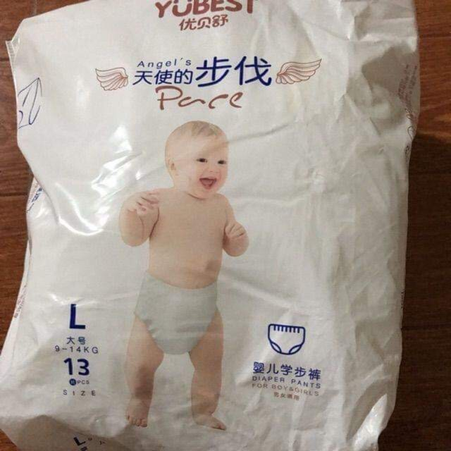 Bỉm YUBEST Angel / Natural nội địa Trung Quốc quần / dán đủ size S132/M108/L96/XL84/XXL72
