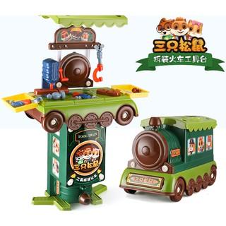 Bộ đồ chơi nhà bếp kết hợp xe lửa HDY 2 trong 1 giáo dục sớm dành cho bé