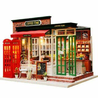 Mô hình nhà gỗ búp bê dollhouse DIY – M015A Coffee Time