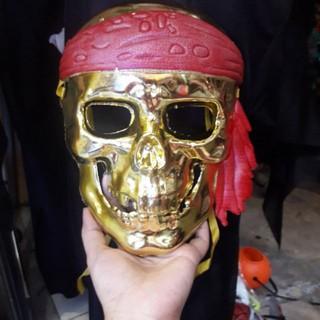 Mặt nạ xương sọ hóa trang Halloween. Màu vàng- bạc | squishygiare698